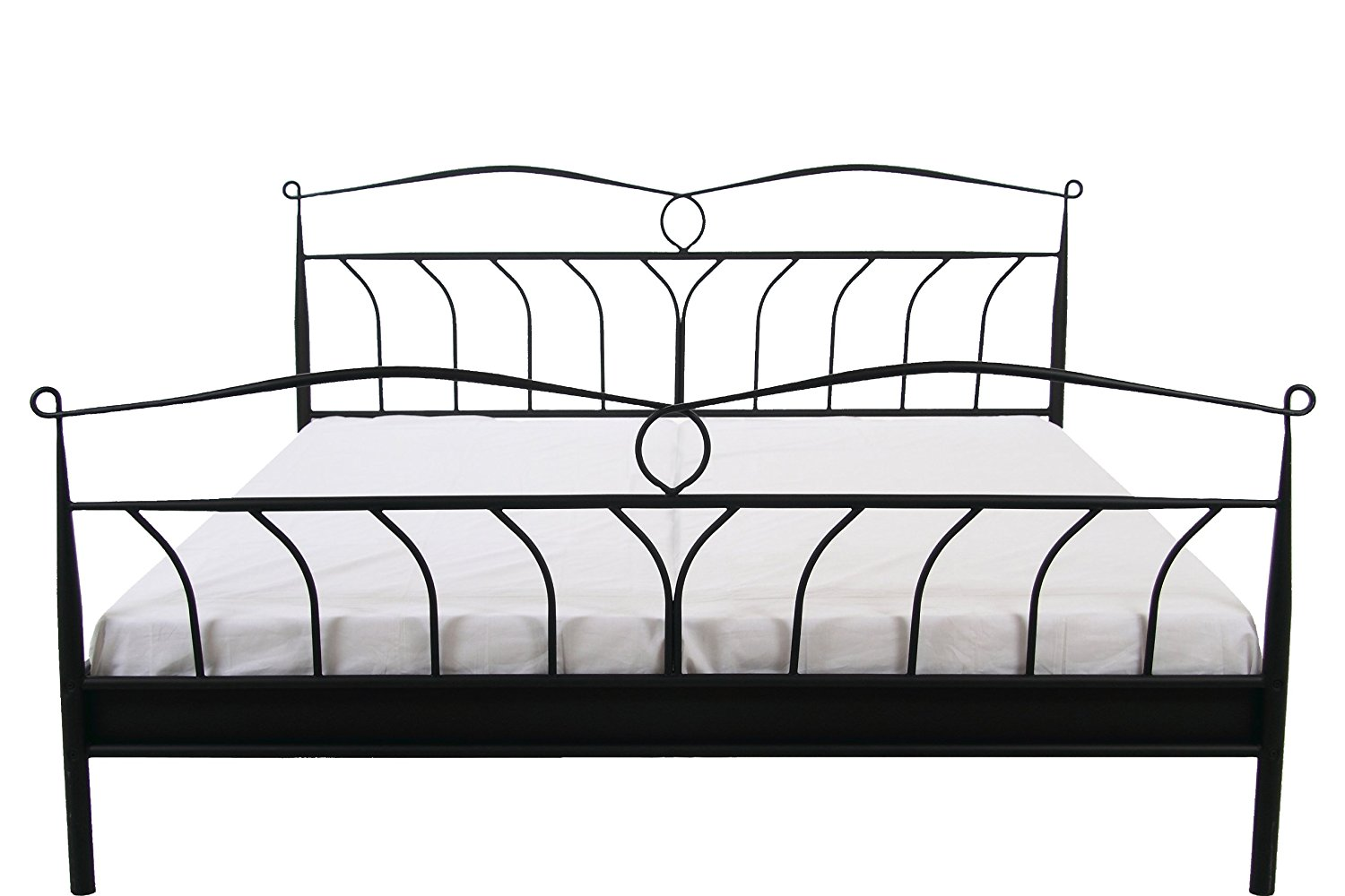 metallbett 180x200 homestyleu metallbett with metallbett. Black Bedroom Furniture Sets. Home Design Ideas